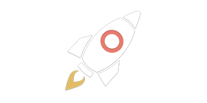 Event planners often need to make changes onsite, the day of the conference or trade show. With eventScribe that's possible. This image shows a rocket ship icon blasting off.
