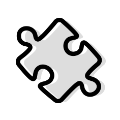 The Survey Magnet integrates with other products like the eventScribe App. Allow users to take surveys and evaluations directly from the app. This image shows a line drawn icon of a a puzzle piece.